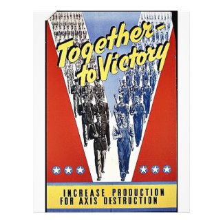 Together To Victory 21.5 Cm X 28 Cm Flyer
