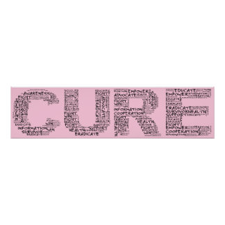Together We Can Find a Cure (Black Text) Poster