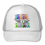 Together We Can Find a Cure Cancer Ribbons Mesh Hats