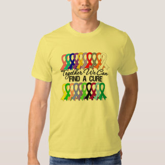 Together We Can Find a Cure Cancer Ribbons Tshirt