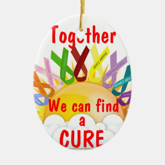 Together we can find a CURE Ceramic Oval Decoration