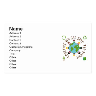 Together We Can Save the Planet Double-Sided Standard Business Cards (Pack Of 100)