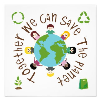 Together We Can Save the Planet Custom Invitations