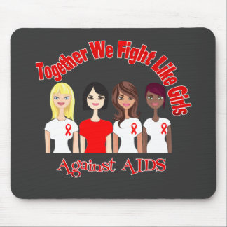 Together We Fight Like Girls AIDS Mouse Pads