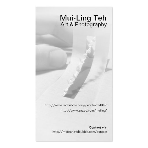 'Together we lift' Trading Card Business Card