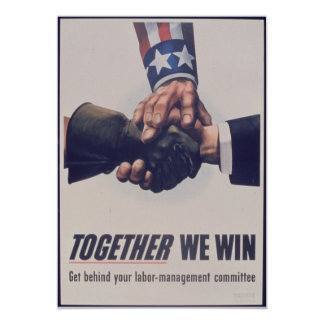 Together we win 5x7 paper invitation card