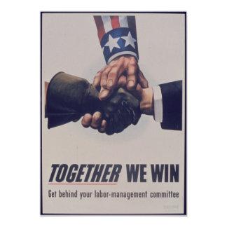 Together we win 13 cm x 18 cm invitation card