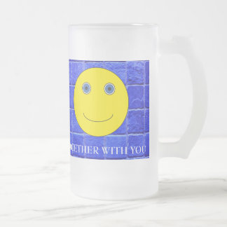 Together with you frosted glass beer mug