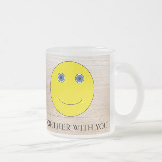 Together with you frosted glass coffee mug