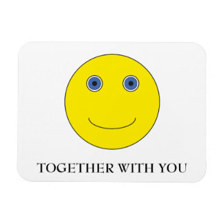 Together with you rectangular photo magnet