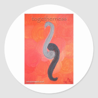 Togetherness Classic Round Sticker