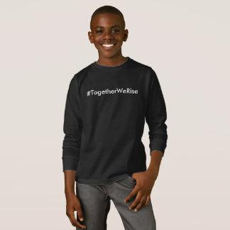 #TogetherWeRise Boys Black Long Sleeve T-Shirt