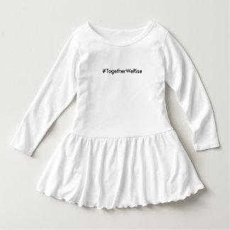 #TogetherWeRise Toddler White Ruffle Dress