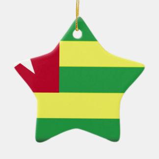 Togo Flag Christmas Ornament