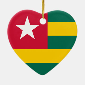 Togo Flag Heart Ornament