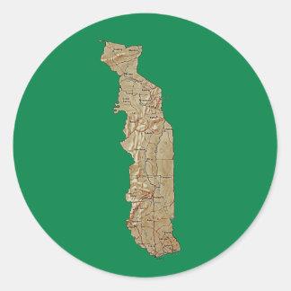 Togo Map Sticker