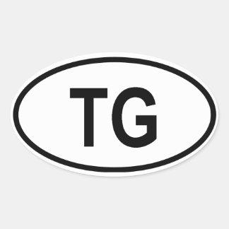 "Togo ""TG"" Oval Sticker"
