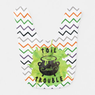 Toil and Trouble Halloween Bib