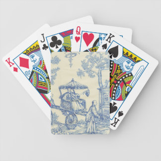 Toile - Blue & White Bicycle Playing Cards