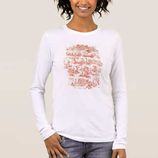 Toile de Jouy, illustrating the processes of manuf Long Sleeve T-Shirt
