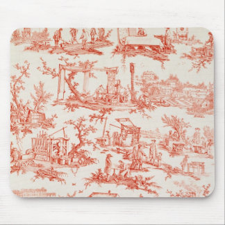Toile de Jouy, illustrating the processes of manuf Mouse Mat