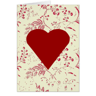 Toile Heart Valentine Card