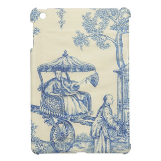 Toile in Blue & White Cover For The iPad Mini