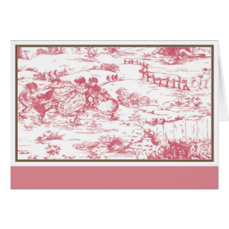 Toile note card