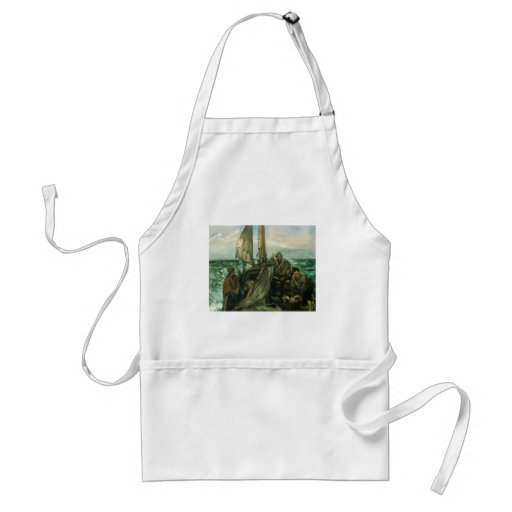 Toilers of the Sea by Manet, Vintage Impressionism Apron