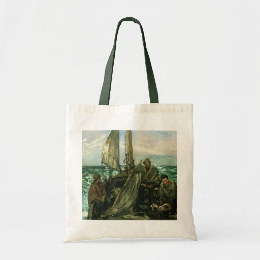 Toilers of the Sea by Manet, Vintage Impressionism Canvas Bags