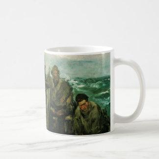Toilers of the Sea by Manet, Vintage Impressionism Basic White Mug