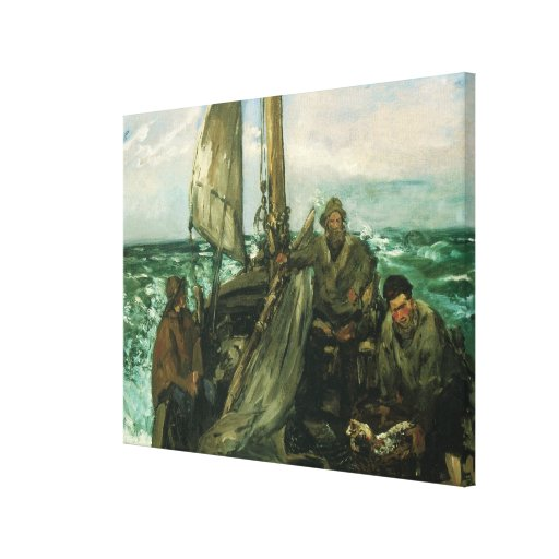 Toilers of the Sea by Manet, Vintage Impressionism Canvas Print