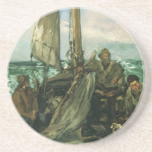 Toilers of the Sea by Manet, Vintage Impressionism Coasters