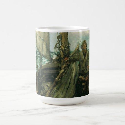 Toilers of the Sea by Manet, Vintage Impressionism Mug