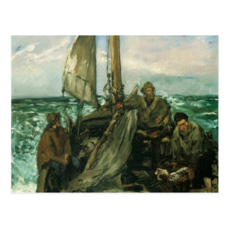 Toilers of the Sea by Manet, Vintage Impressionism Postcard