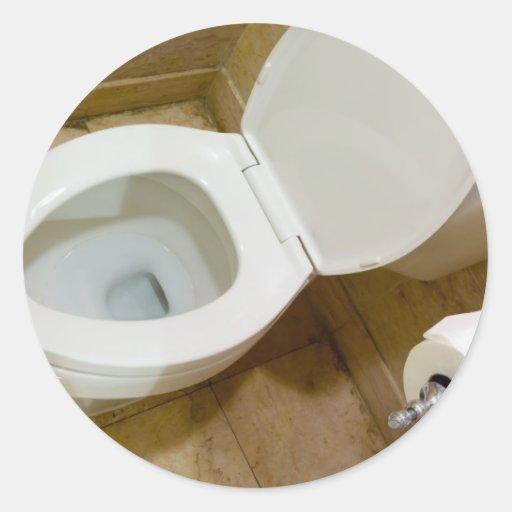 Toilet bowl stickers