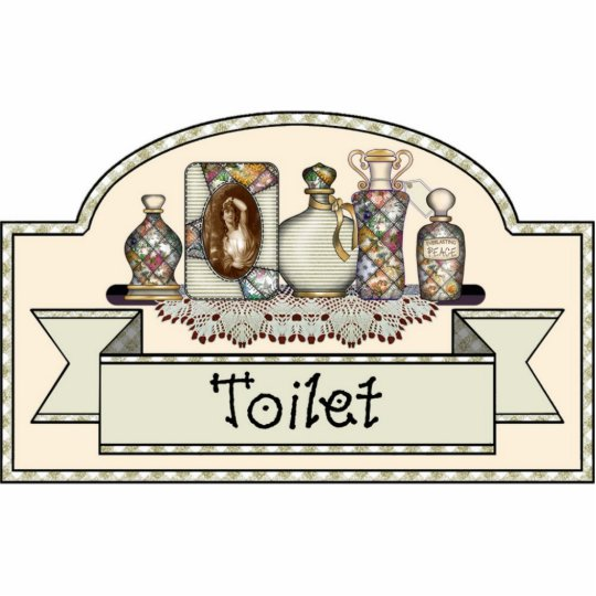"""Toilet"" - Decorative Door Sign Photo Sculpture Decoration"
