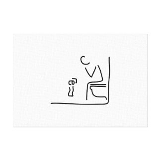 toilet digesting attraction intestine canvas prints
