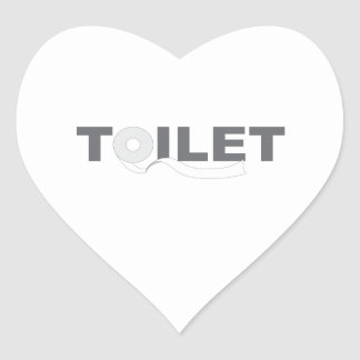 Toilet Heart Sticker