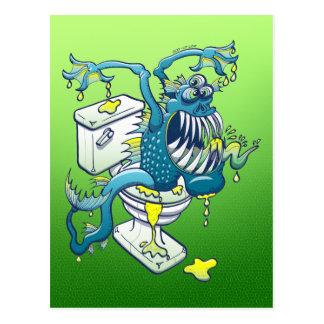 Toilet Monster Postcard