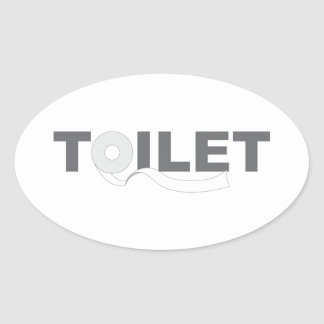 Toilet Oval Sticker