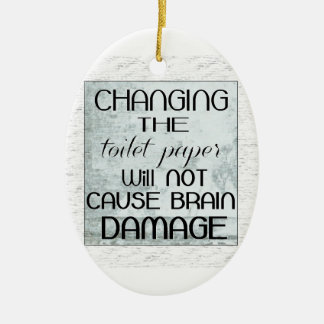 toilet paper humor ceramic oval decoration