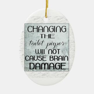 toilet paper humor christmas ornament