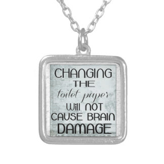 toilet paper humor personalized necklace