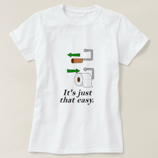 Toilet Paper Instructions T-Shirt