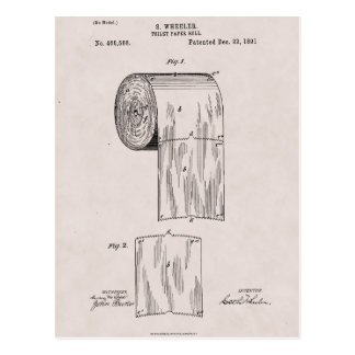 Toilet Paper Patent No. 465,588 by S. Wheeler 1891 Postcard