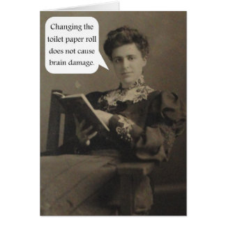 Toilet Paper Quote Card