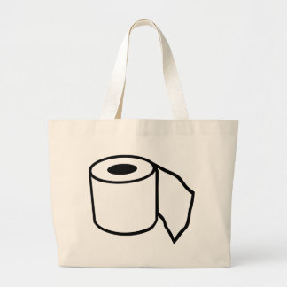 Toilet paper roll large tote bag
