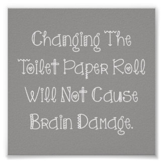 Toilet Paper Roll Poster