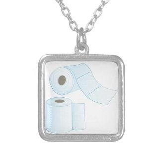 Toilet Paper Square Pendant Necklace
